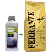 Kit: 1 Descalcificante Philips Saeco + 1kg Café em Grãos Especial Ferrante