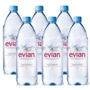 Água Mineral Evian Sem Gás 1 Lt 06 Unidades