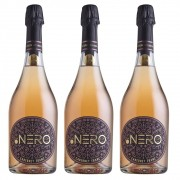 Kit 03 Un. Espumante Ponto Nero Enjoy Cab. Franc Brut 750ml