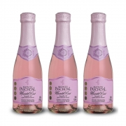 Kit 03 Un. Mini Espumante Monte Paschoal Moscatel Rosé 187ml