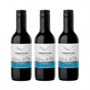 Kit 03 Un. Mini Vinho Trapiche Vineyards Malbec 187ml