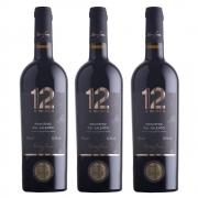 Kit 03 Un. Vinho 12 e Mezzo Primitivo del Salento IGP 750ml