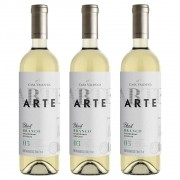 Kit 03 Un Vinho Casa Valduga Arte Chardonnay e Moscato 750ml