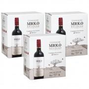 Kit 03 Un Vinho Miolo Seleção Cabernet/Merlot Bag in Box 3Lt