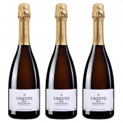 Kit 03 Unidade Espumante Fausto de Pizzato Brut 750ml
