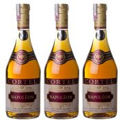 Kit 03 Unidades Conhaque Brandy Cortel Napoléon 700ml