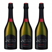 Kit 03 Unidades Espumante Ponto Nero Cult Brut Rosé 750ml