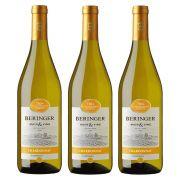 Kit 03 Unidades Vinho Beringer Chardonnay 750ml