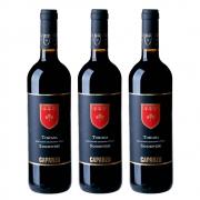 Kit 03 Unidades Vinho Caparzo Sangiovese IGT 750ml