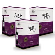 Kit 03 Unidades Vinho Casa Perini Arbo Merlot Bag in Box 3Lt