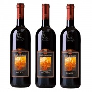 Kit 03 Unidades Vinho Castello Banfi Brunello Di Montaltino 750ml