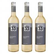 Kit 03 Unidades Vinho Latitud 33 Sauvignon Blanc 750ml