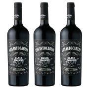 Kit 03 Unidades Vinho Los Intocables Black Cabernet 750ml