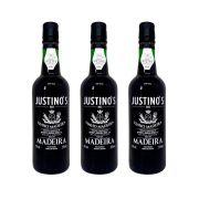 Kit 03 Unidades Vinho Madeira Justinos 3 Anos Doce 375ml
