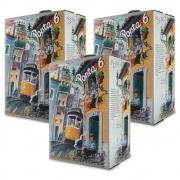 Kit 03 Unidades Vinho Porta 6 Tinto Bag In Box 3 Litros