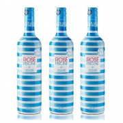 Kit 03 Unidades Vinho Rosé Piscine Stripes Suave 750ml