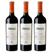 Kit 03 Unidades Vinho Salentein Portillo Malbec 750ml