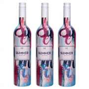 Kit 03 Unidades Vinho Summer Ice Rosé Casa Motter 750ml