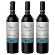 Kit 03 Unidades Vinho Trapiche Vineyards Merlot 750ml