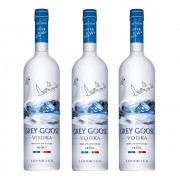 Kit 03 Unidades Vodka Grey Goose 750ml