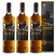 Kit 03 Unidades Whisky The Famous Grouse Smoky Black 750ml