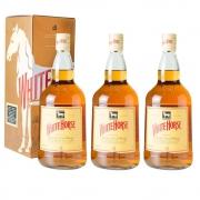 Kit 03 Unidades Whisky White Horse 1 Litro