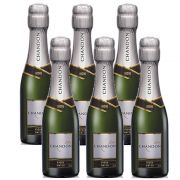 Kit 06 Un. Mini Espumante Chandon Baby Riche Demi-Sec 187ml