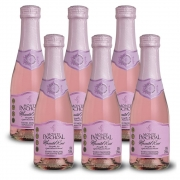 Kit 06 Un. Mini Espumante Monte Paschoal Moscatel Rosé 187ml