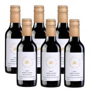 Kit 06 Un. Mini Vinho Fausto de Pizzato Violette Suave 187ml