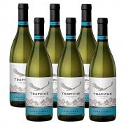 Kit 06 Unid. Vinho Trapiche Vineyards Chardonnay 750ml