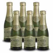 Kit 06 Unidades Mini Espumante Monte Paschoal Brut 187ml