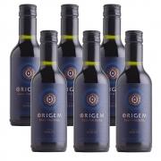 Kit 06 Unidades Mini Vinho Casa Valduga Origem Merlot 187ml