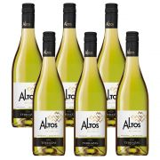 Kit 06 Unidades Vinho Altos Del Plata Chardonnay 750ml