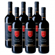 Kit 06 Unidades Vinho Caparzo Sangiovese IGT 750ml