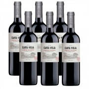 Kit 06 Unidades Vinho Carta Vieja Cabernet Sauvignon 750ml