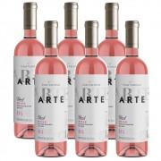 Kit 06 Unidades Vinho Casa Valduga Arte Rosé 750ml