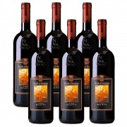 Kit 06 Unidades Vinho Castello Banfi Brunello Di Montaltino 750ml