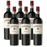 Kit 06 Unidades Vinho Corbelli Chianti DOCG 750ml