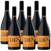 Kit 06 Unidades Vinho Família Bebber Gurí Pinot Noir 750ml