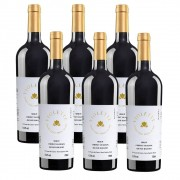 Kit 06 Unidades Vinho Fausto de Pizzato Violette Suave 750ml