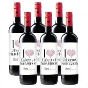 Kit 06 Unidades Vinho I Heart Cabernet Sauvignon 750ml