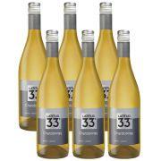 Kit 06 Unidades Vinho Latitud 33 Chardonnay 750ml
