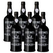 Kit 06 Unidades Vinho Madeira Justinos 3 Anos Doce 750ml