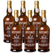 Kit 06 Unidades Vinho Madeira Justinos 3 Anos Seco 750ml