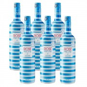 Kit 06 Unidades Vinho Rosé Piscine Stripes Suave 750ml