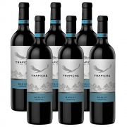 Kit 06 Unidades Vinho Trapiche Vineyards Merlot 750ml