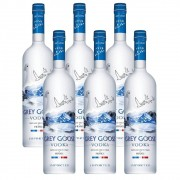 Kit 06 Unidades Vodka Grey Goose 750ml
