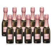 Kit 10 Unidades Mini Espumante Chandon Baby Brut Rosé 187ml
