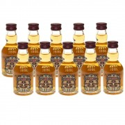 Kit 10 Unidades Mini Whisky Chivas Regal 12 Anos 50ml