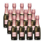 Kit 12 Unidades Mini Espumante Chandon Baby Brut Rosé 187ml